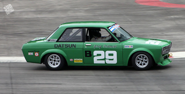 Green Datsun 510 race car
