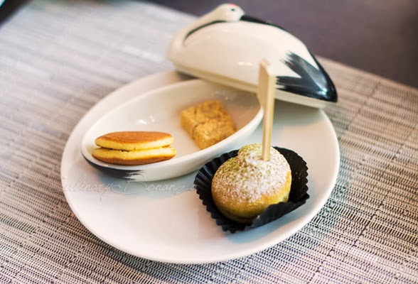 Petite Dorayaki, Mochi and Green Tea Choux at Huize Van Wely The Papilion Kemang