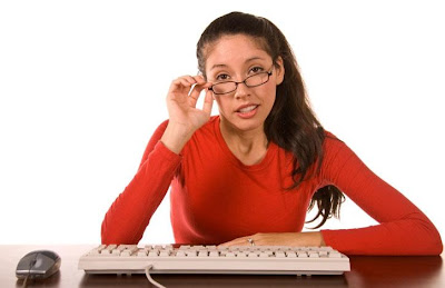 What If You Don't Like On-Line Dating - woman girl use computer wear glasses