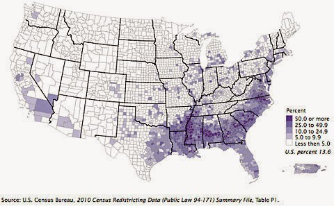 April Free Printable Maps Blacks In Us Demography Map
