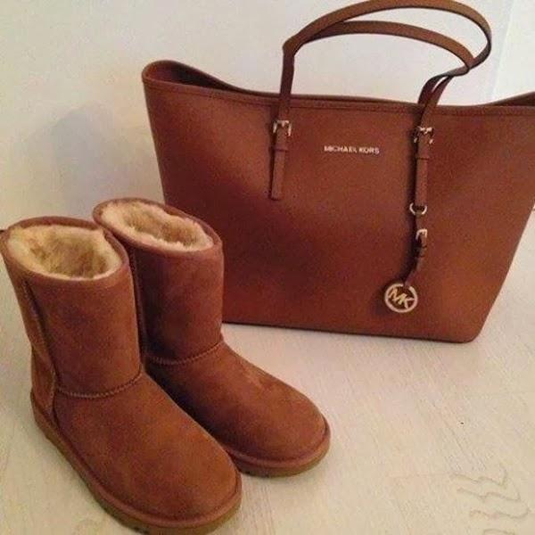 Adorable Leather Michael Kors Handbag and Ugg Boots