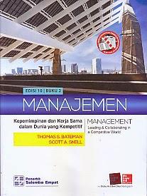 toko buku rahma: buku MANAJEMEN EDISI 10 BUKU 2, pengarang thomas s. bateman, penerbit salemba empat