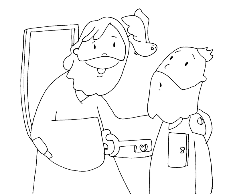 Bonito Pascua Para Colorear Jesús Friso - Dibujos Para Colorear En ...