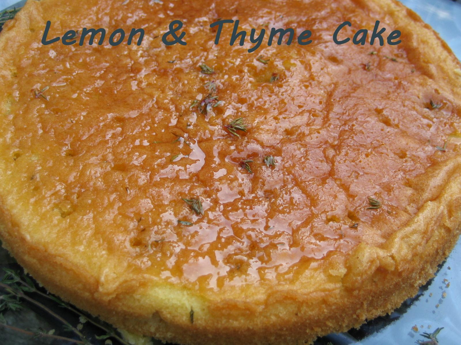 Lemon & Thyme Cake Clandestine Cake Club recipe dessert