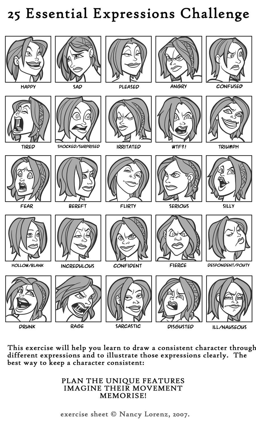 Examples of facial expressions advise