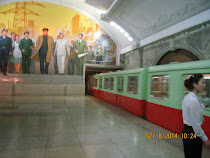 Pyongyang Metro: Modern lighting, propaganda, and 1950s trains