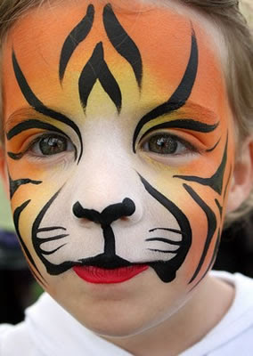 Easy tiger face paint - photo#3