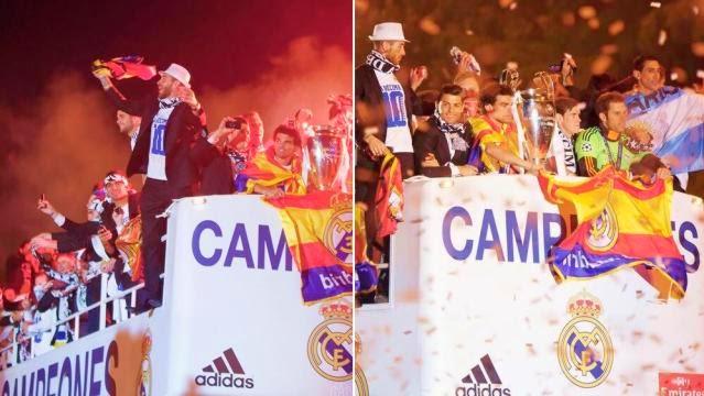 احتفالات ريال مدريد بلقب دوري الابطال في السيبليس .. العاشرة تتحقق