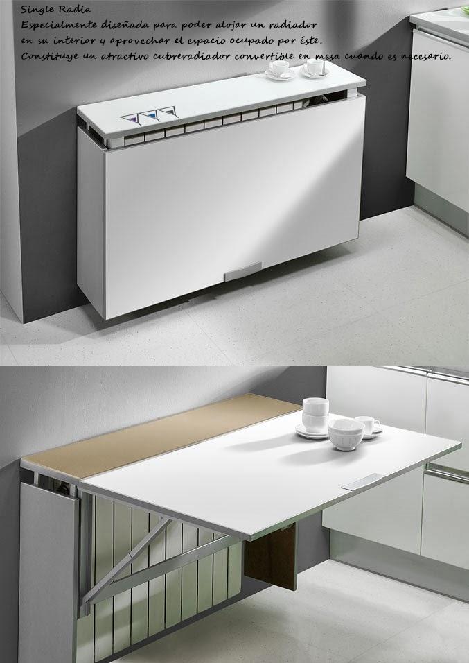Mesas plegables o abatibles para la cocina decoraci n - Mesa plegable pared cocina ...