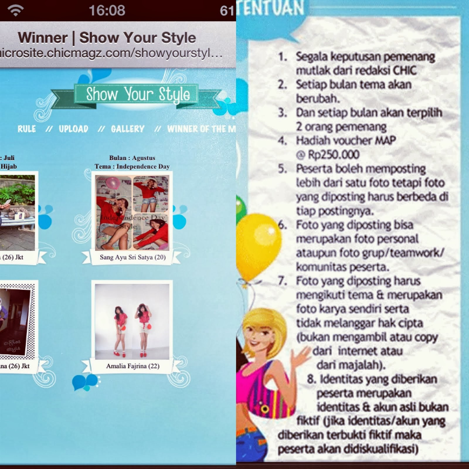 The Winner of Show Your Style by CHIC Magazine