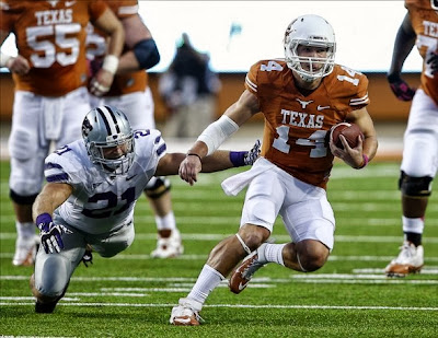 Texas QB David Ash out for TCU due to lingering effects of a head injury.
