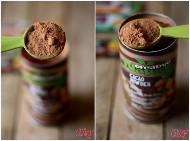 Scoops of Criollo Cacao Powder from Anyonita-nibbles.co.uk