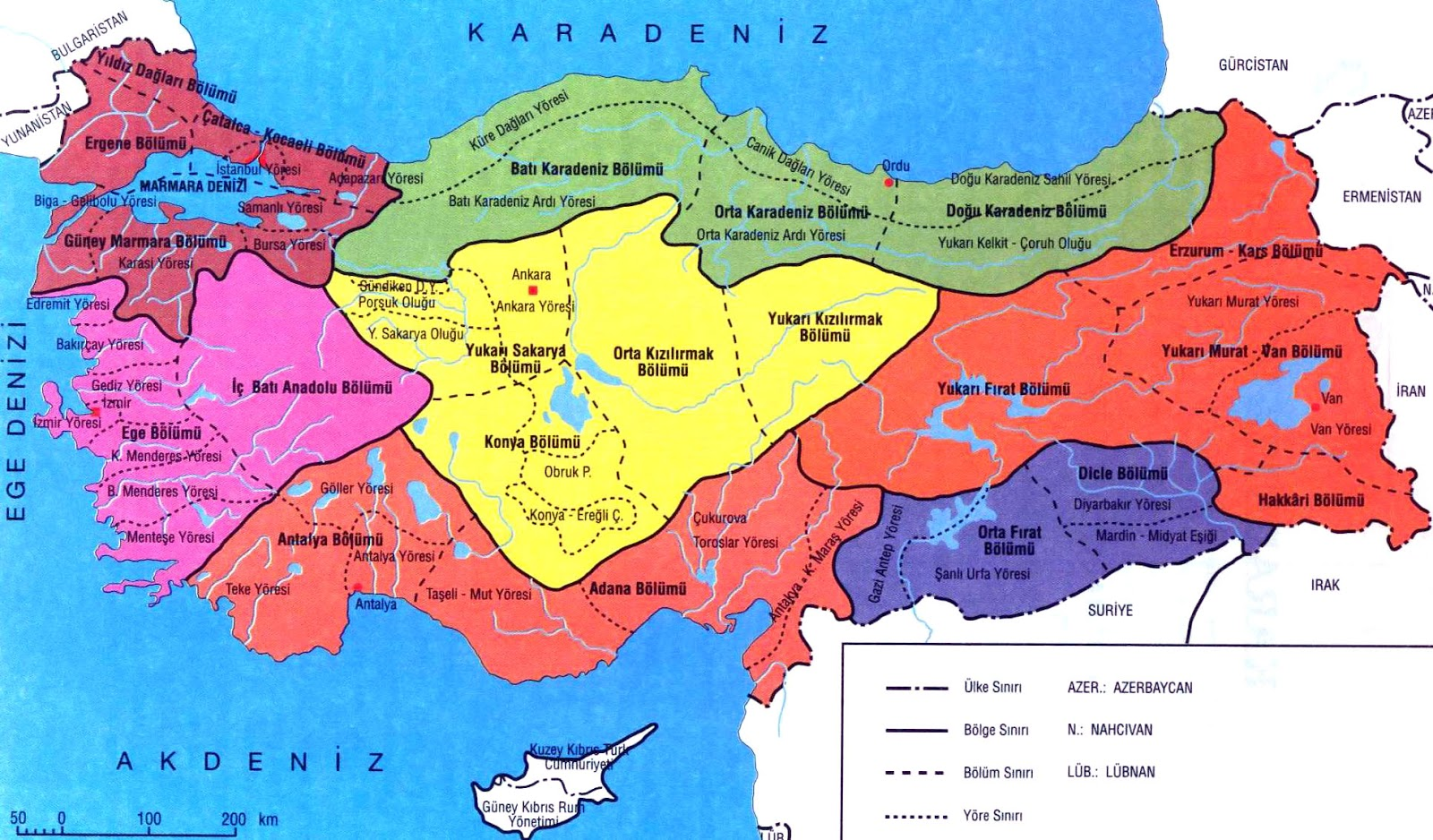 Map Of Turkey Regions Turkey Physical Political Maps Of The City