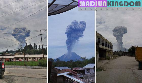foto letusan gunung sinabung sumatera utara Foto dan Video Letusan Gunung Api Sinabung di Kabupaten Karo Sumatera Utara