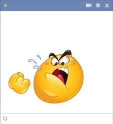 emoticon Facebook marah