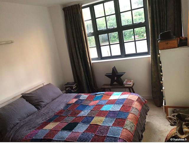 chambre lit plaid ethnique Marrakech Maison de Ville Londres