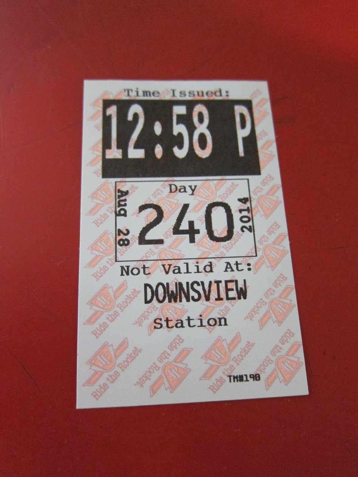 Photo: Downsview station transfer