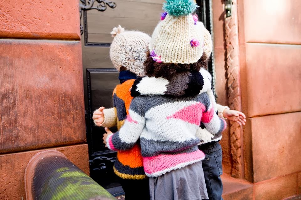 Hand knitted kids clothing by HBB Industria Argentina for autumn 2014 collection