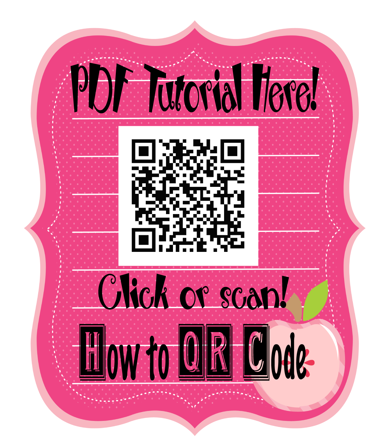 How to QR Code PDF Tutorial