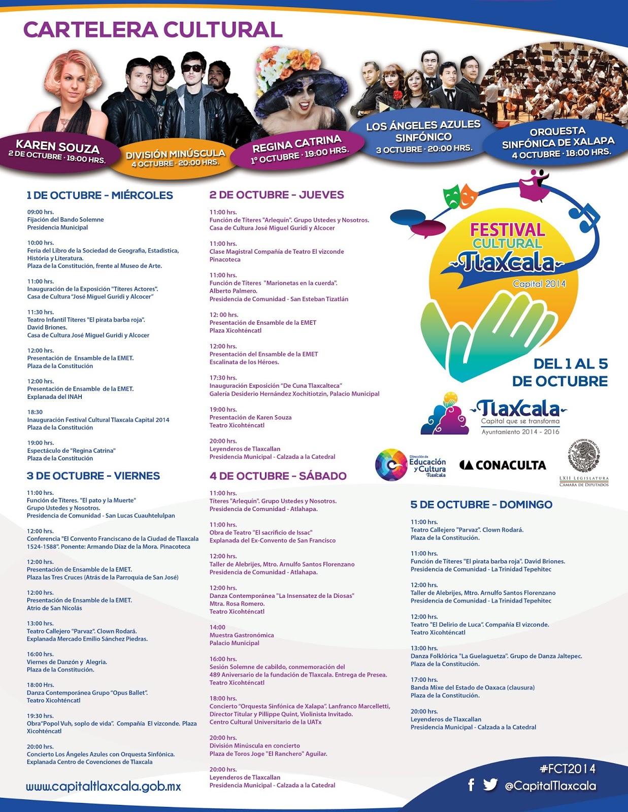 Festival Cultural Tlaxcala boletos División minúscula 2014