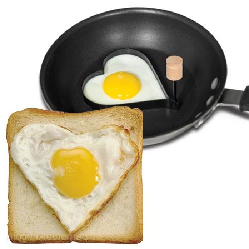 Moldes para huevo con forma de corazón