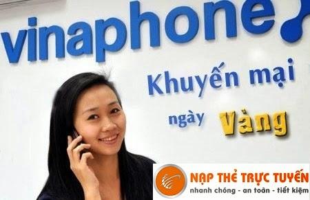 Nạp Thẻ Trực Tuyến cùng Vinaphone khuyến mại 23/12/2014