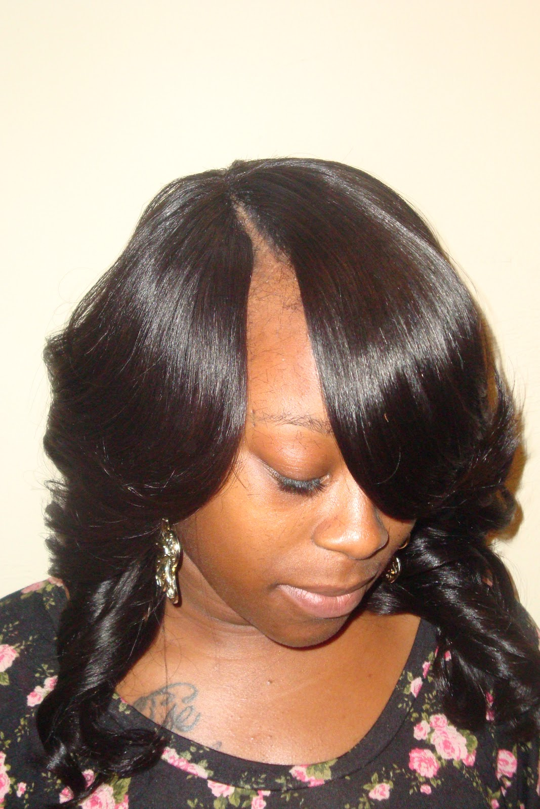 Invisible Part Sew In Curly Hair Brazilian curly hair Sew-in