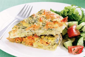 salmon frittata ingredients 8 eggs 1 can of salmon or
