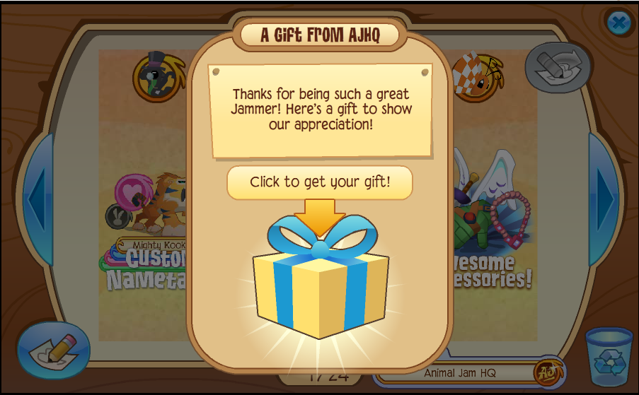 Does your Jammer need more gems to get their favorite Animal Jam accessories, dens, or pets? Pick up one of our exclusive, downloadable Gem Gift Certificates! Note: Gem gift certificates do not grant membership. Gems do not enable non-members to purchase member-only items in-game.