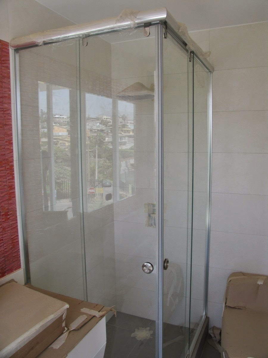 Puertas correderas de aluminio para bano de aluminio con - Puerta corredera cristal bano ...