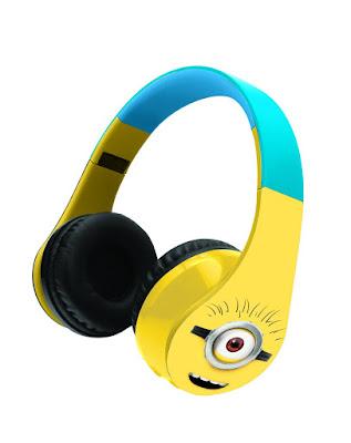 TOYS : JUGUETES - MINIONS: Gru Mi Villano Favorito Casco estéreo Bluetooth 3.0  Producto Oficial Película 2015 | Lexibook BTHP400DES Comprar en Amazon España