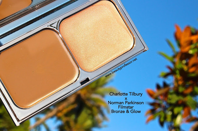 charlotte tilbury x norman parkinson bronze and glow swatches