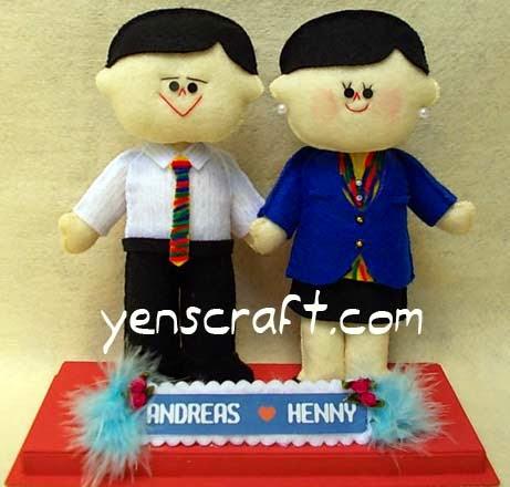 boneka couple profesi karyawan bank bca