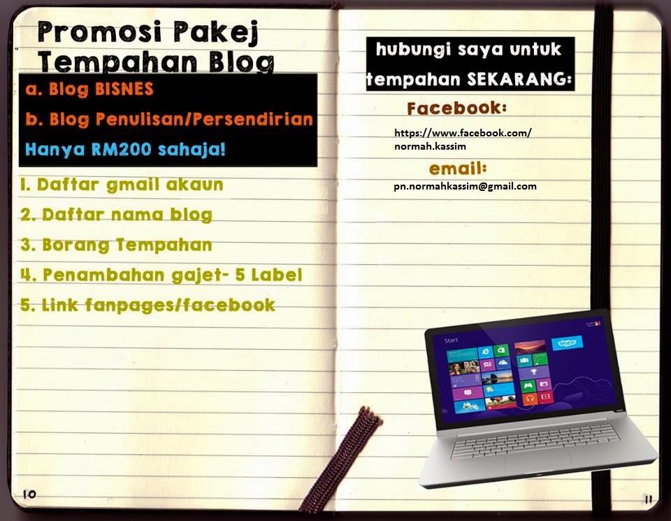 Promosi Pakej Tempahan Blog