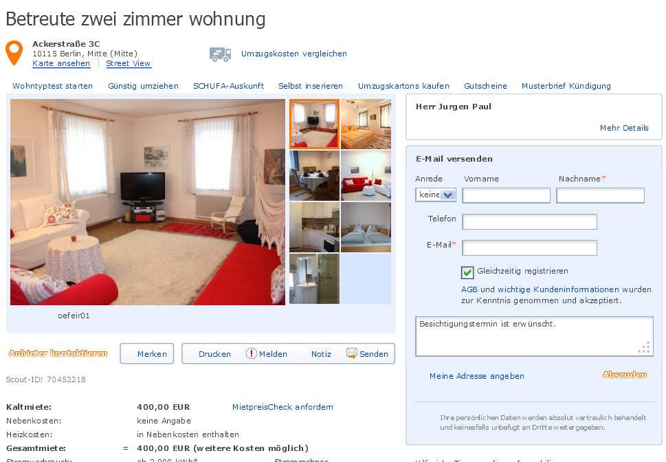 Jurgenpauul alias for Zwei zimmer wohnung berlin