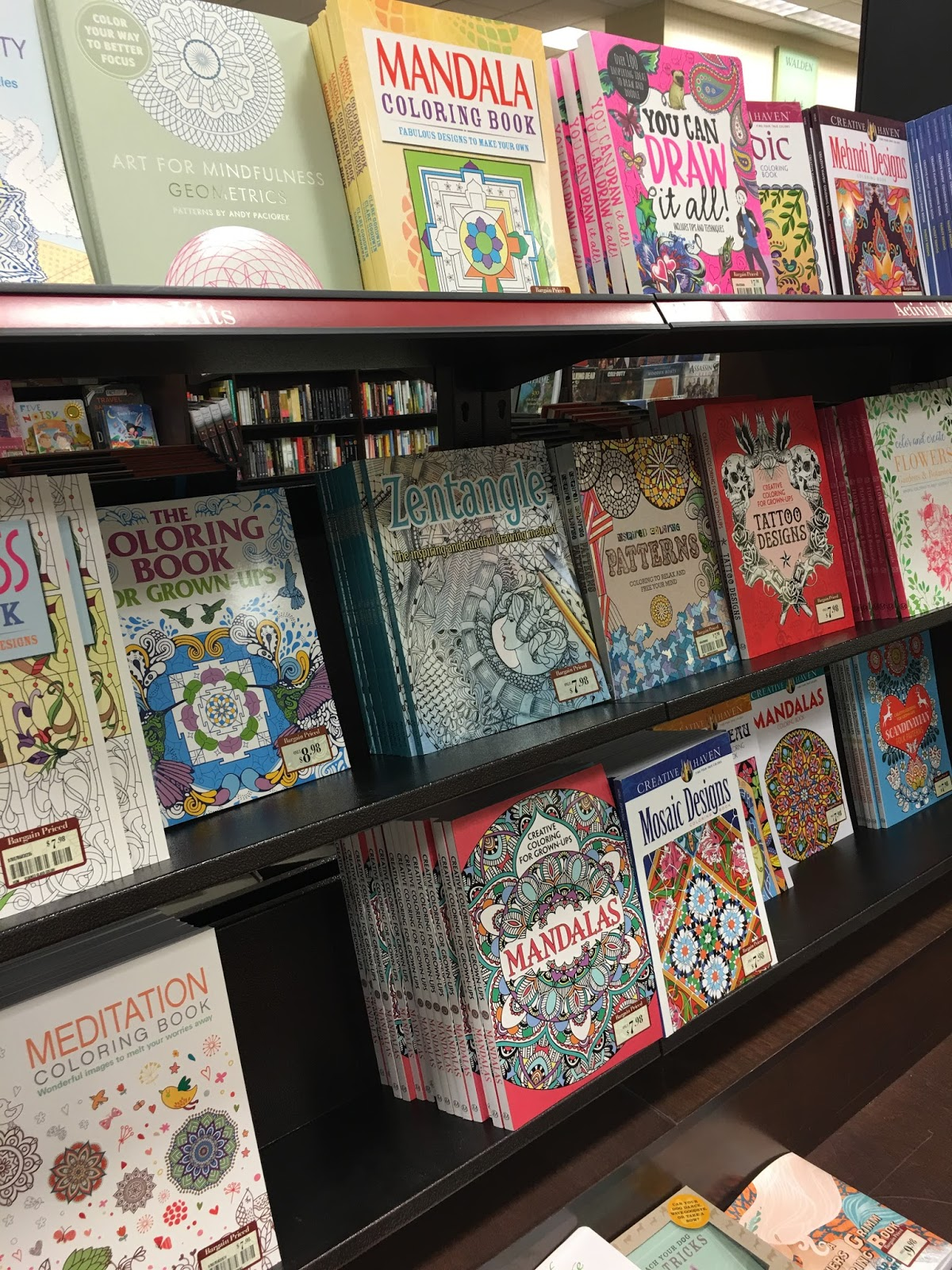 If You Were Out Shopping At All During The Holidays Probably Saw Adult Coloring Books EVERYWHERE I Even Them In Checkout Lane Walgreens