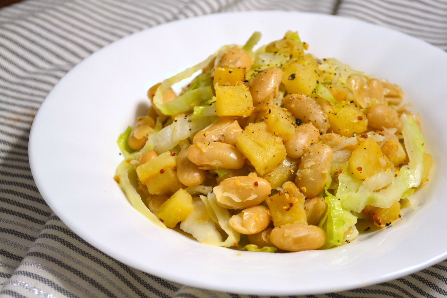 Test Kitchen: White Beans and Cabbage with Grainy Mustard and Beer