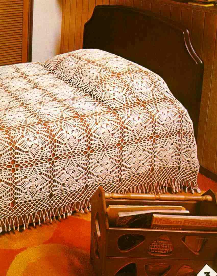 Crochet Style ~: ~colcha a crochet pinas~