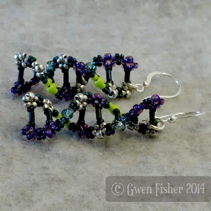 Teal DNA Earrings