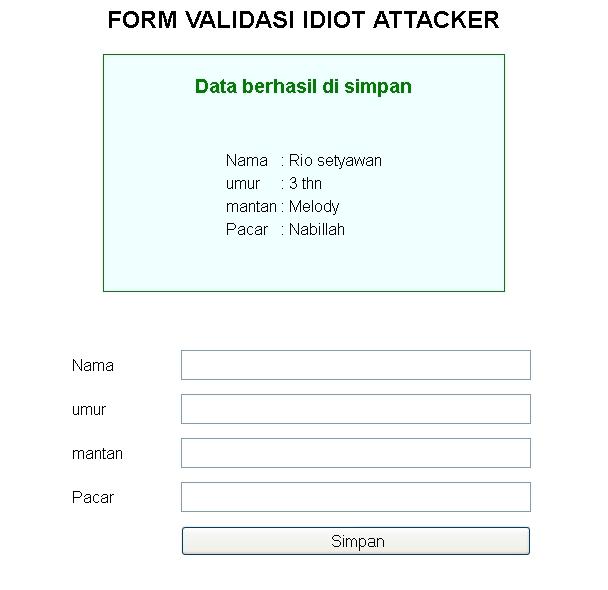 Tutorial membuat form validasi dengan PHP