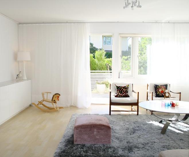 Gardin Till Koksfonster Ikea : Vardagsrummet hemma idag i morgonsolen So hor ors or ju gardinen