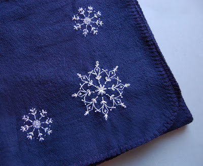 Snowflake Embroidery on Fleece SeptemberHouse