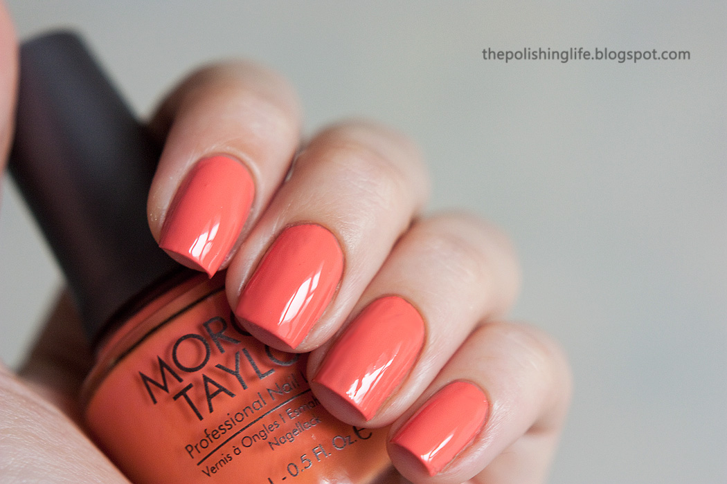 Morgan Taylor nail lacquer Candy Coated Coral