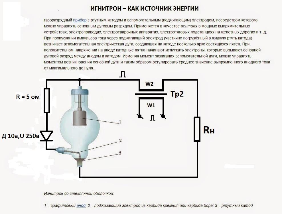 Источник энергии схема