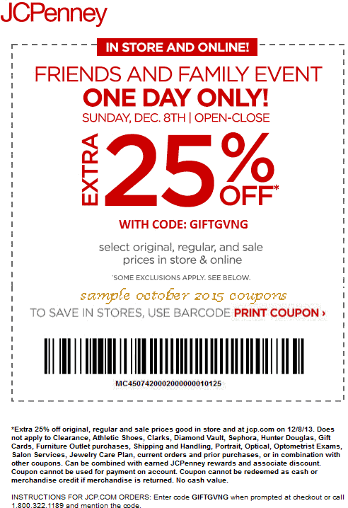 View JCPenney Deals How to Use Coupons and Codes. JCPenney Tips & Tricks JCPenney frequently offers promo codes on their homepage. If you hold a JCP Credit card, you will also have access to exclusive coupons and, occasionally, free shipping.