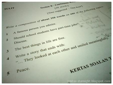 contoh essay english form 1 Contoh karangan bahasa inggeris pt3 essay termasuklah karangan format dialog, temuduga (interview), karangan tidak rasmi 1) berbincang dan bertanya secara terus.