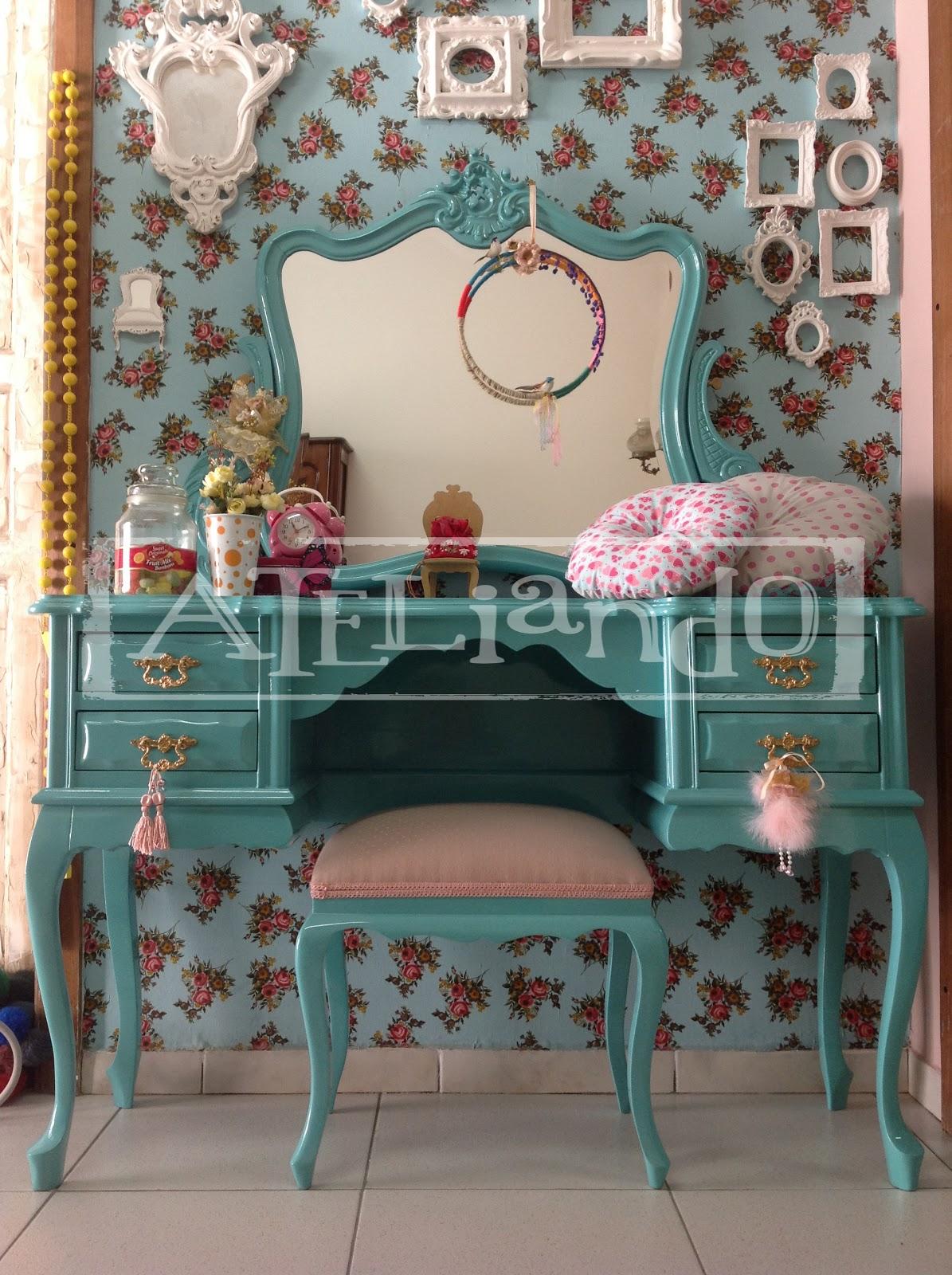 Ateliando Customização de móveis antigos: Penteadeira Tiffany for  #8B6140 1195x1600