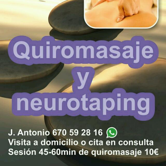 Quiromasaje y neurotaping
