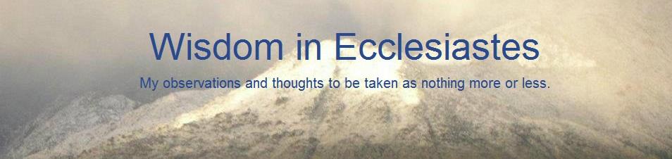 Wisdom in Ecclesiastes