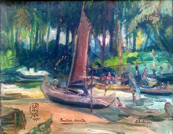 Karya Lukisan S. Sudjojono Pantai Carita